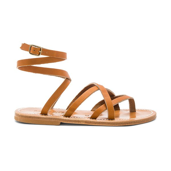 K. JACQUES Zenobie Sandal - Leather upper and sole. Wrap ankle with buckle closure....
