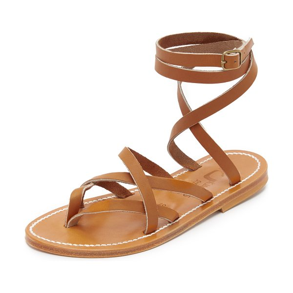 K. Jacques zenobie wrap sandals in pul natural - Timeless K. Jacques thong sandals styled in sturdy...