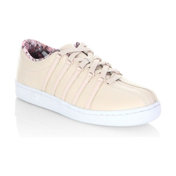 K-Swiss courtstyle classic leather sneakers in pink tint - From the Courtstyle collection. Feminine sneakers...