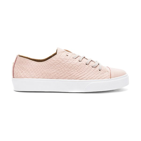 KAANAS Atacama Fashion Sneaker in blush - Embossed leather upper with rubber sole. Lace-up front....