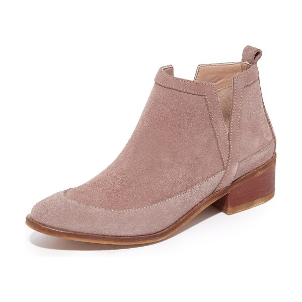 KAANAS mexicali booties in mauve - Exclusive to Shopbop. Sculpted panels of brushed suede...