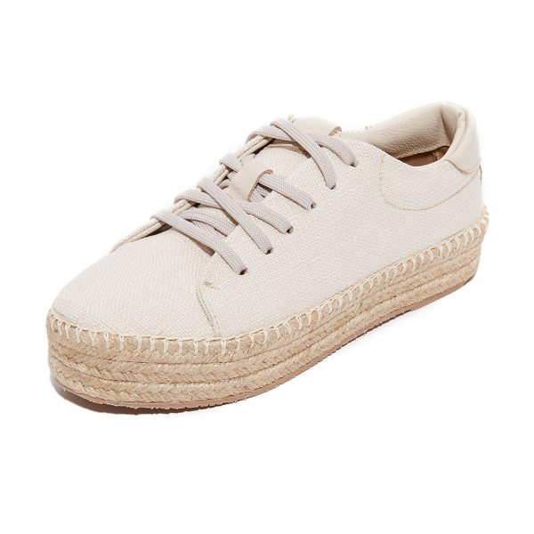 KAANAS nogales espadrille sneakers in cream - Canvas KAANAS espadrille sneakers with leather trim and...