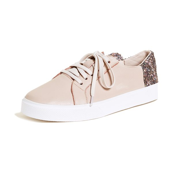 KAANAS san rafael sneakers in nude - Monochrome KAANAS sneakers in pebbled leather, accented...