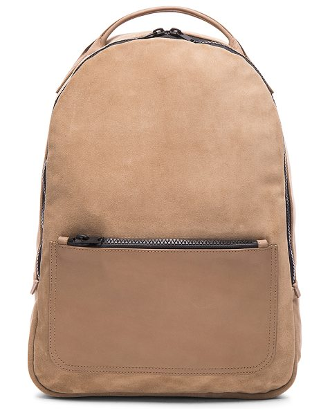 KANYE WEST X ADIDAS ORIGINALS Leather backpack in neutrals - Suede with cotton canvas lining and matte black-tone...