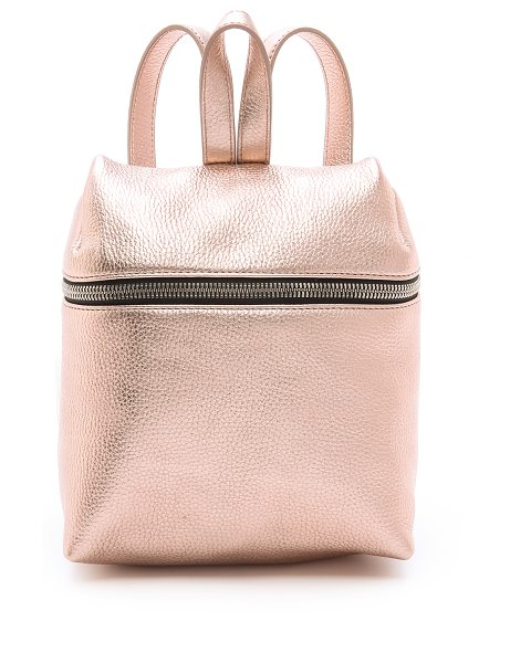 Kara Metallic small backpack in rose gold - A scaled down KARA backpack rendered in bold metallic...