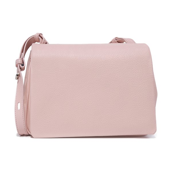 Kara mini messenger bag in blush pink - A scaled-down KARA messenger bag in pebbled leater. A...