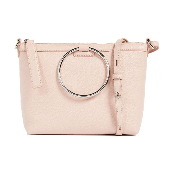 KARA ring cross body bag - A pebbled leather KARA cross-body bag trimmed with...