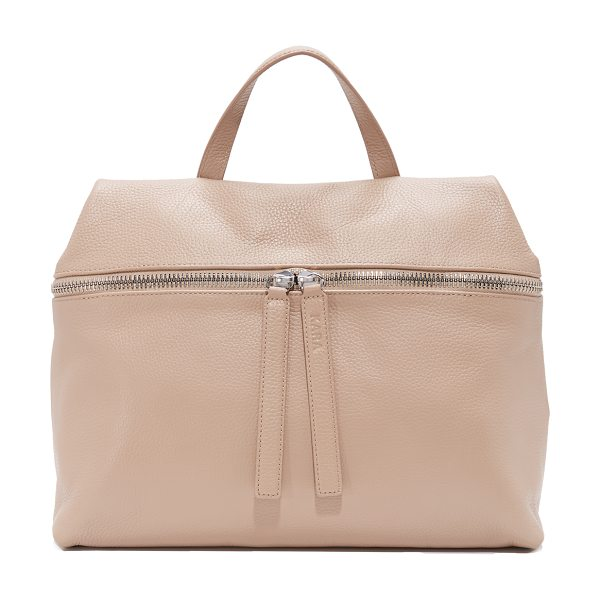 Kara satchel in camel - This minimalist KARA satchel is cut from sophisticated...