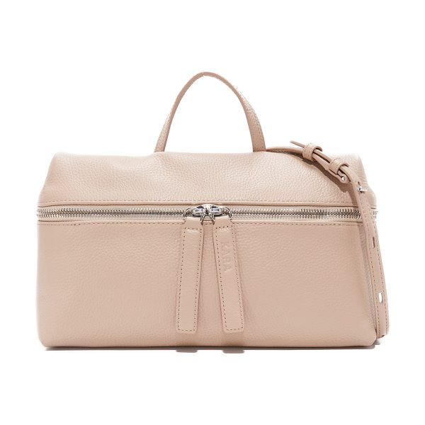 Kara shoulder bag in camel - A minimalist KARA shoulder bag in pebbled leather. Slim...