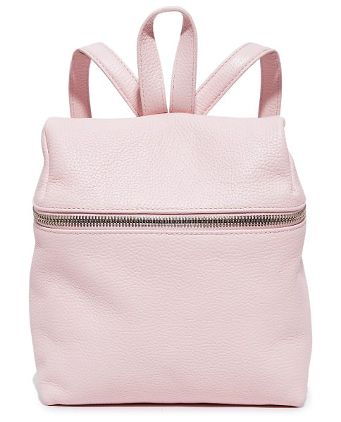KARA small backpack in pink blush - This scaled-down KARA backpack is crafted in pebbled...