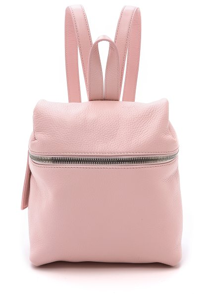 Kara Small backpack in pink - A scaled down KARA backpack rendered in pebbled leather....