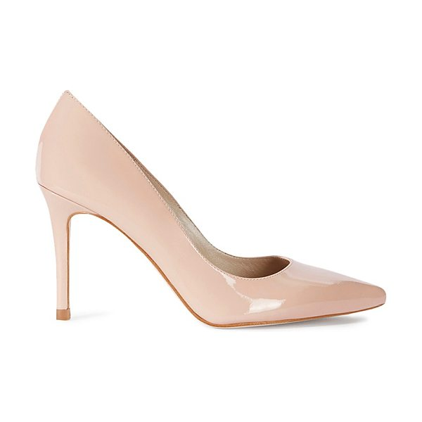 Karen Millen Patent Leather Pointed Toe Court Pumps in nude - Karen Millen Patent Leather Pointed Toe Court Pumps-Women