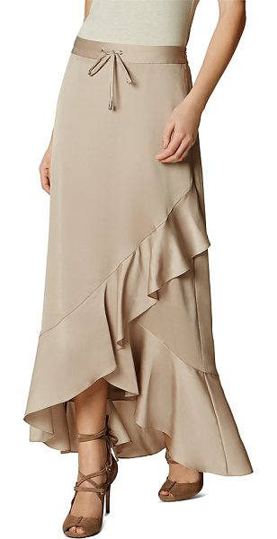 Karen Millen Ruffle Maxi Skirt in neutral - Karen Millen Ruffle Maxi Skirt-Women