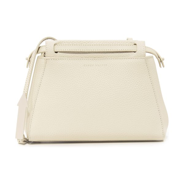 KAREN WALKER mae cross body bag in putty - A structured Karen Walker bag in luxe, pebbled leather....