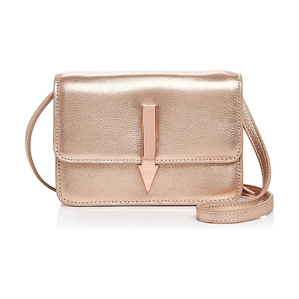 KAREN WALKER Millie Leather Crossbody in bronze/gold - Karen Walker Millie Leather Crossbody-Handbags