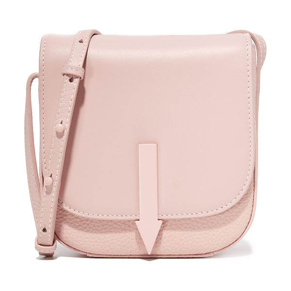 Karen Walker minnie bonnie saddle bag in blush - A petite Karen Walker saddle bag in mixed leather. Slim...