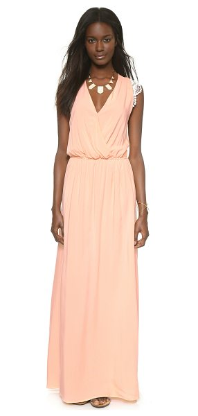 Karen Zambos Vintage Couture Molly maxi dress in peach - A soft Karen Zambos Vintage Couture maxi dress has...