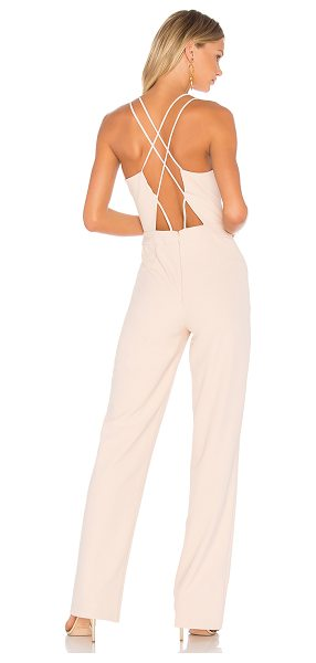 "Karina Grimaldi Anahi Cut Out Jumpsuit in blush - ""Self: 98% poly 8% spandexLining: 100% poly. Dry clean..."