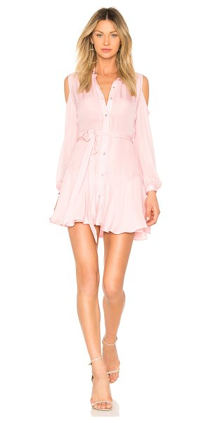 Karina Grimaldi Cut Mini Dress in pink - Silk blend. Dry clean only. Partially lined. Front...