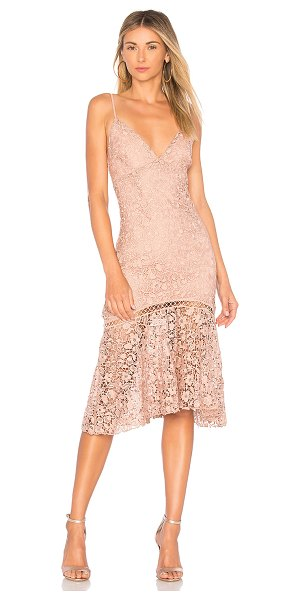 KARINA GRIMALDI Diana Lace Dress - Cotton blend. Dry clean only. Fully lined. Adjustable...