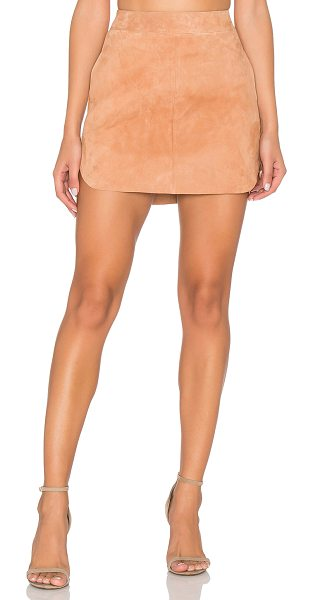Karina Grimaldi Jacob Suede Skirt in tan - 100% suede. Professional leather cleaning only. Suede...