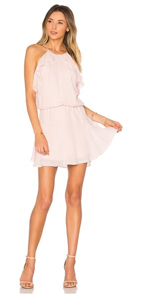 Karina Grimaldi Lulu Solid Mini Dress in pink - Self: 70% viscose 30% silkLining: 100% poly. Dry clean...