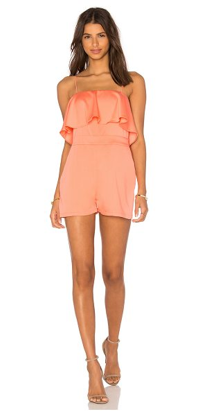 Karina Grimaldi Paco Romper in coral - Shell: 100% viscoseLining: 100% poly. Dry clean only....
