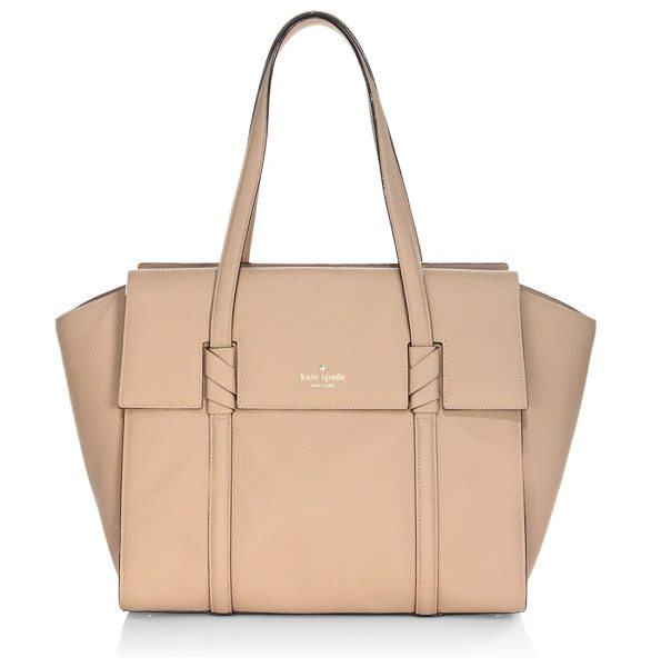 Kate Spade New York daniels drive abigail leather satchel in hazel - From the Daniels Drive Collection. Spacious textured...