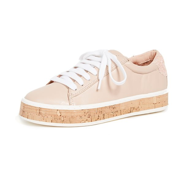 KATE SPADE NEW YORK amy espadrille sneakers in ballet pink - Leather: Sheepskin Lace-up style Flat profile Lace-up at...
