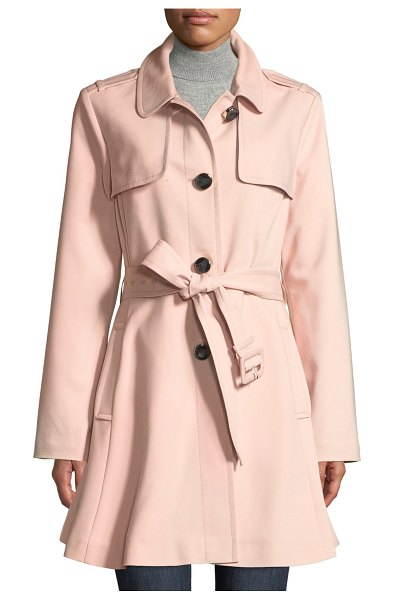 Kate Spade New York belted rain trench coat in pink