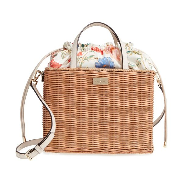 KATE SPADE NEW YORK bloom street - Boarskin-embossed leather trim and a flower-printed...