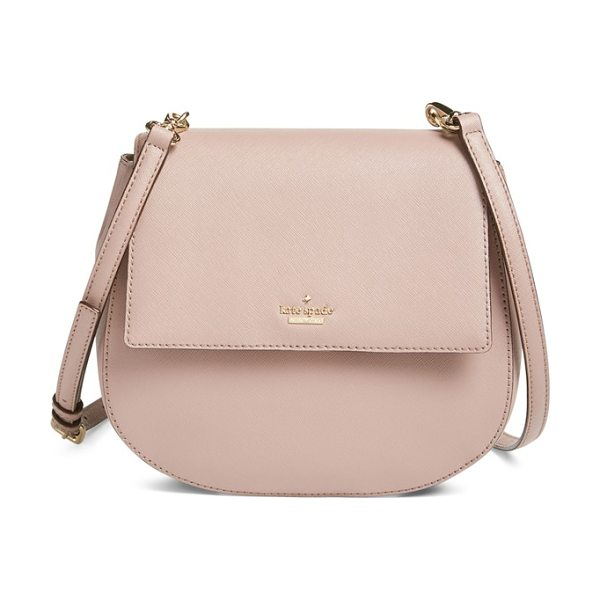 KATE SPADE NEW YORK Cameron street - Rich, crosshatched leather shapes a compact crossbody...