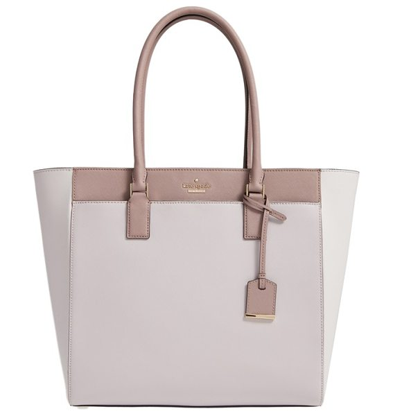 Kate Spade New York 'cameron street in nouveau neutral/ porcini - A padded center-zip compartment keeps your laptop secure...