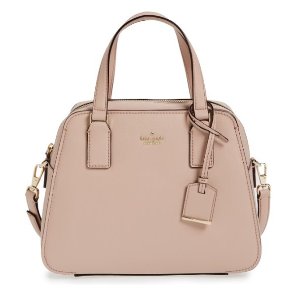 KATE SPADE NEW YORK cameron street in toasted wheat - Crosshatched leather accentuates the clean, structured...