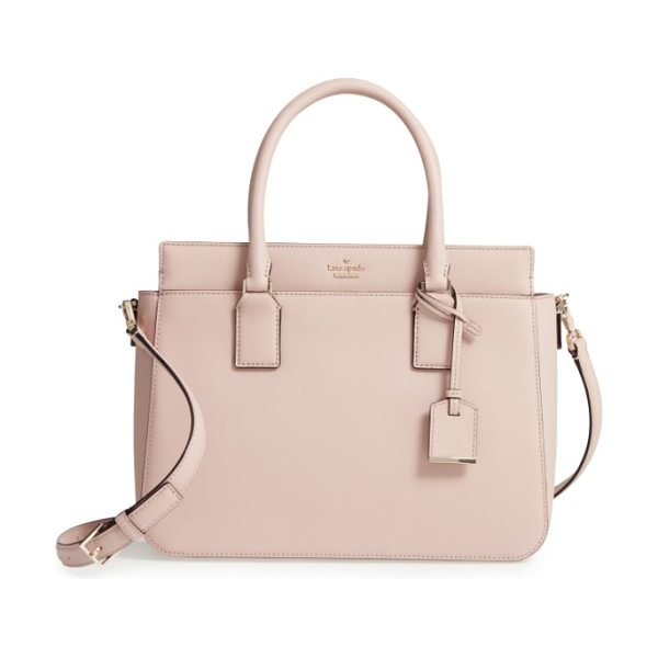 Kate Spade New York cameron street in toasted wheat - A structured satchel in scratch-resistant, crosshatched...