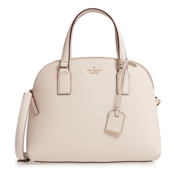 Kate Spade New York cameron street in tusk - A go-to leather satchel finished with gleaming goldtone...