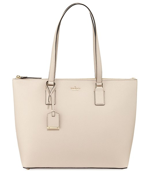 Kate Spade New York cameron street lucie leather tote bag in tusk - kate spade new york crosshatched leather tote bag....