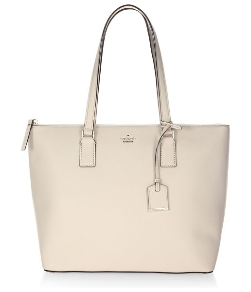 Kate Spade New York cameron street lucie tote in tusk - From the Cameron Street Collection. Luxe Saffaino...