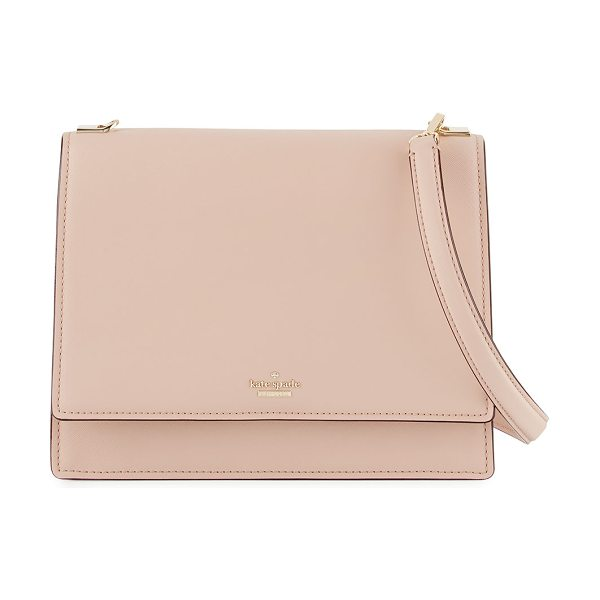 Kate Spade New York cameron street sophie shoulder bag in beige - kate spade new york crosshatched leather shoulder bag....