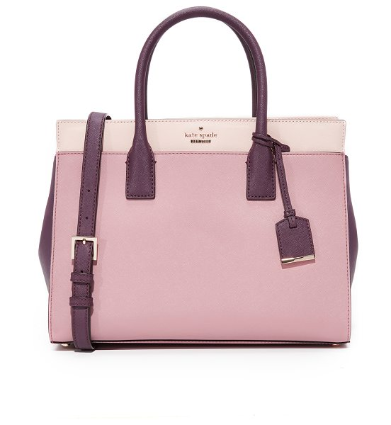 Kate Spade New York cameron street candace satchel in dusty peony multi - A structured Kate Spade New York tote in colorblock,...
