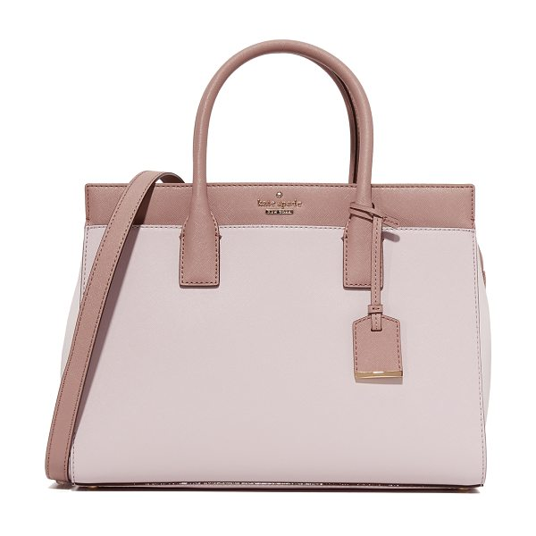 Kate Spade New York Kate Spade New York Candace Satchel in nouveau neutral/porcini/light - A Kate Spade New York tote in saffiano leather. The...