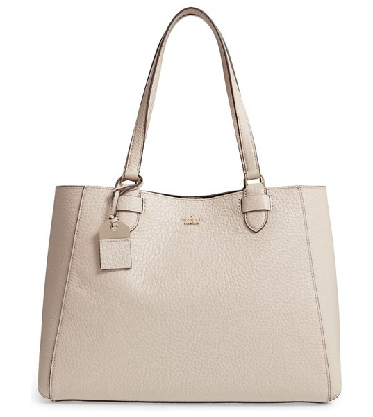Kate Spade New York carter street in tusk - This wear-with-anything, pebbled-leather satchel styled...