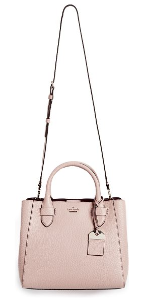 Kate Spade New York carter street devlin satchel in barely there - A structured Kate Spade New York bag in rich, pebbled...