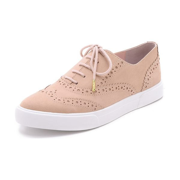 KATE SPADE NEW YORK Catlyn sneakers in shell - These nubuck Kate Spade New York shoes blend oxford and...