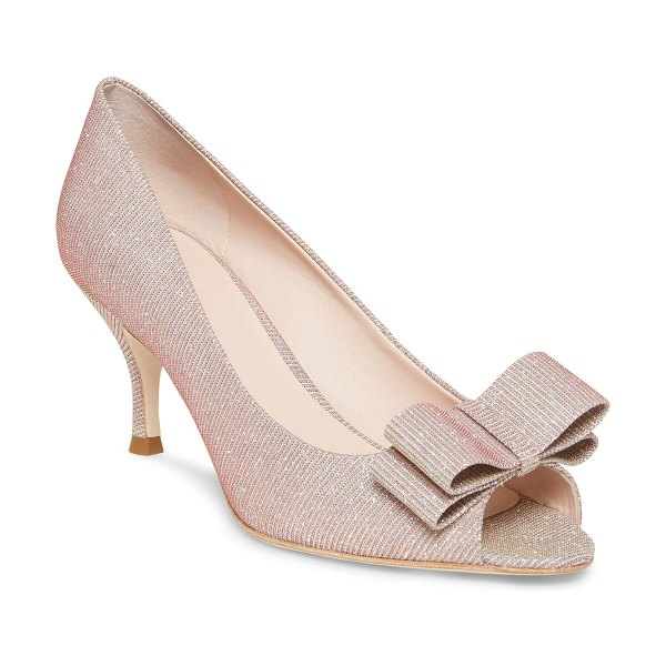 Kate Spade New York Cecilia Metallic Bow Pumps in pink