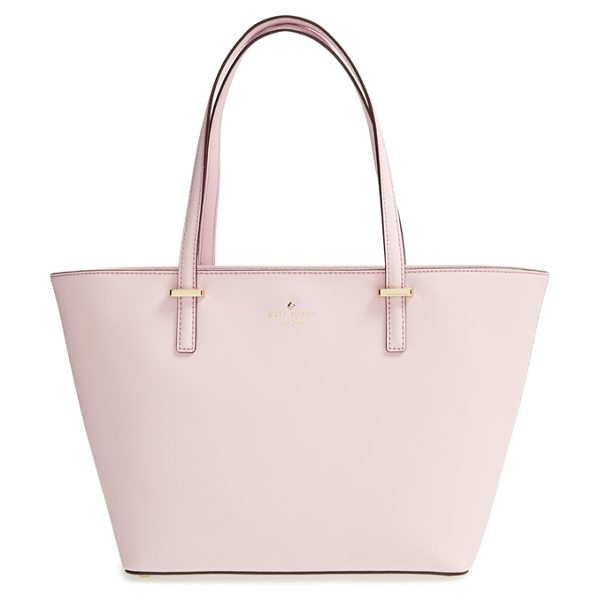 KATE SPADE NEW YORK Cedar street - Lightly textured, crosshatched leather and slim handles...