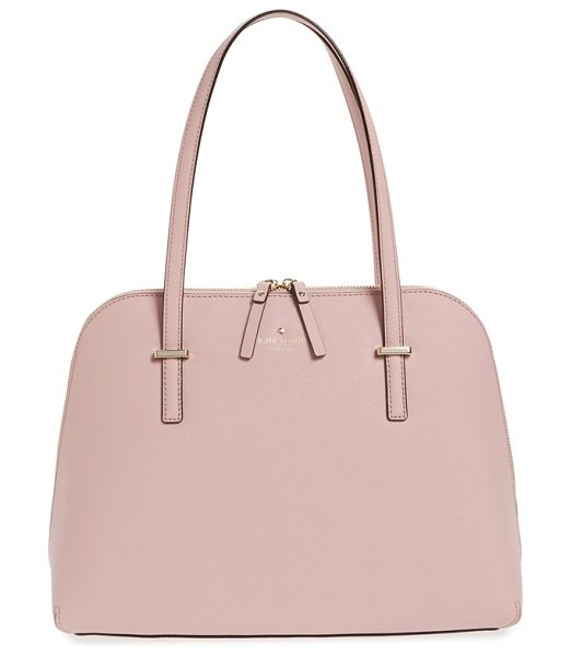 Kate Spade New York Cedar street in pink bonnet - Scratch-resistant crosshatched leather polishes a tidy...
