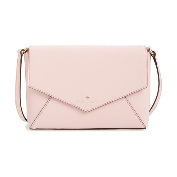 Kate Spade New York Cedar street in rose jade - An envelope-style crossbody bag crafted from lustrous...