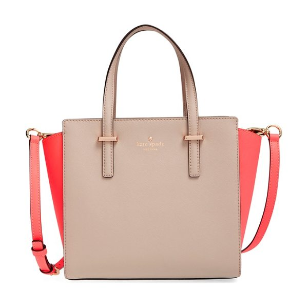 Kate Spade New York Cedar street in stone ice - Sleek, 14-karat gold-plated hardware polishes this...
