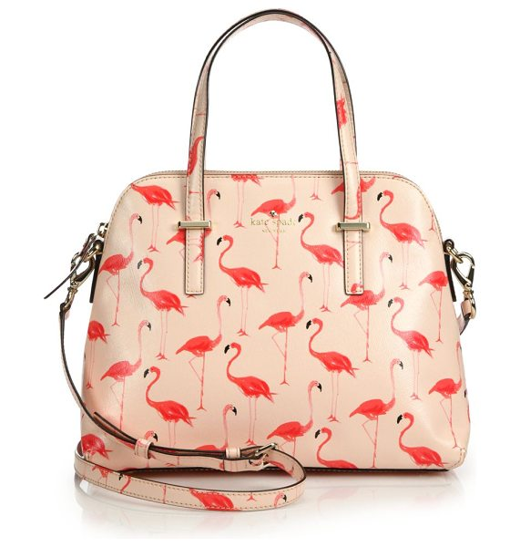 Kate Spade New York Cedar street maise flamingo saffiano faux leather satchel in pink - Crafted of faux leather with a luxe Saffiano texture,...